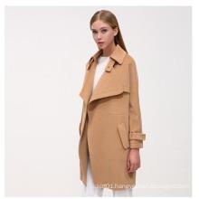 New Fashion Wool Casual Women Long Winter Coat