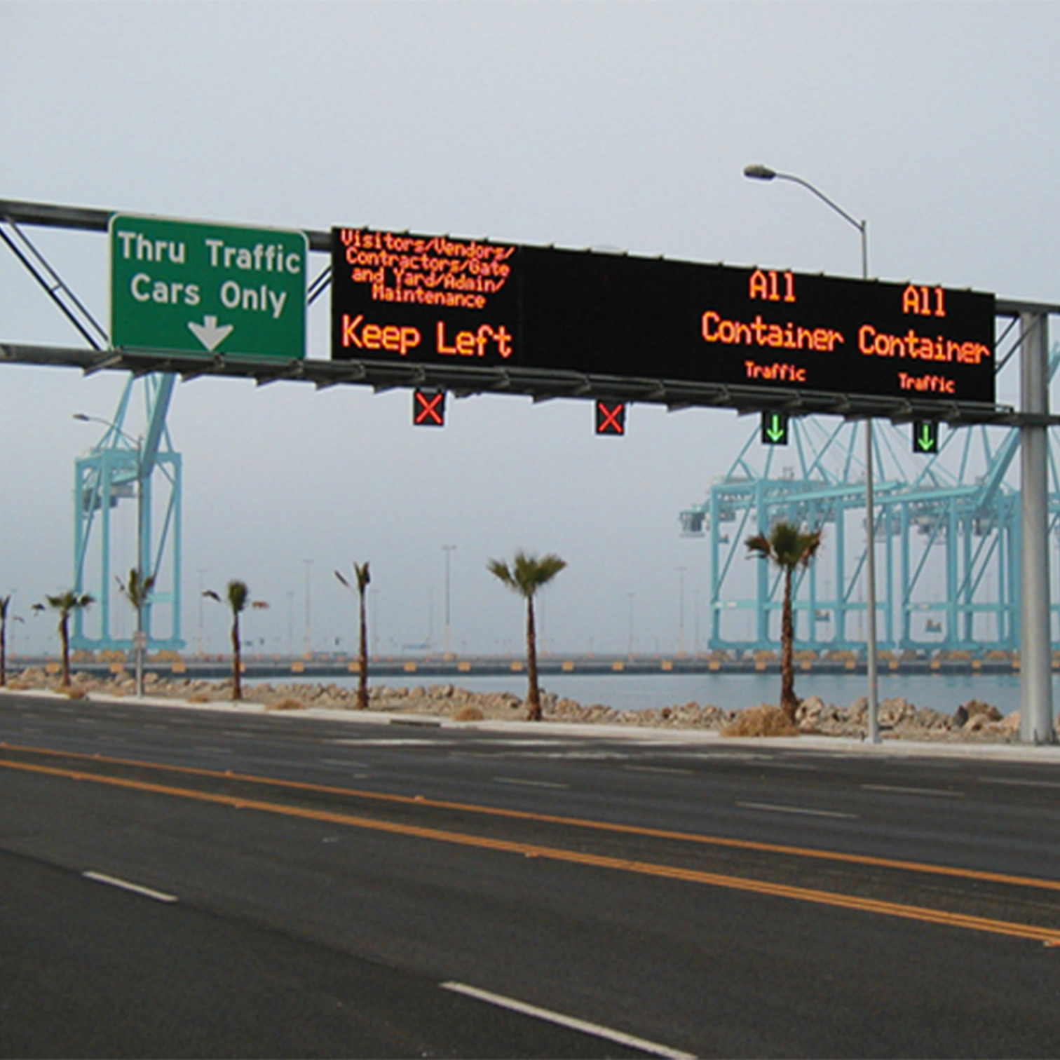 Traffic led screen sign