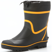 men's short sweat-absorbent lining rubber boots for seasons