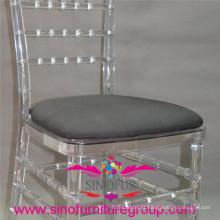 Almofada de assento de poliéster de alta densidade, Almofada rígida para cadeira de chiavari