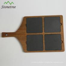 High quality grey rectangular slate stone chopping board