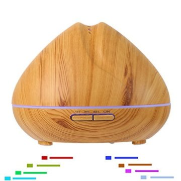 400ml Top Wooden Essential Oil Ultrasonic Aroma Diffuser