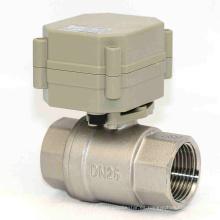 1 pulgada Válvula de agua eléctrica de acero inoxidable de 3V / 5V / 12V / 24V Válvula de flujo motorizada para agua de Dringking (T25-S2-A)