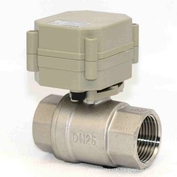 1 Inch 3V/5V/12V/24V Electric Stainless Steel Water Valve Motorized Flow Valve for Dringking Water (T25-S2-A)