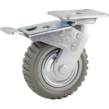 Double Ball Bearing Total Brake Type PU Caster (KHX3-H4)