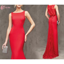 Alibaba Wholesale Lace Applique Women's Mermaid Red Evening Dresses
