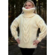New Design Hand Knit Cowl Pescoço Camisola Pullover Sweater Cardigan
