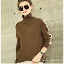 Women′s Cashmere Sweater Turtle Neck 16brdw009