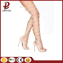 lace strap to thigh sexy women sandals