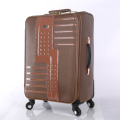 Nice PU leather personality design trolley suitcase