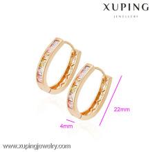 (90065) Pendiente plateado oro de alta calidad de Xuping Fashion 18K