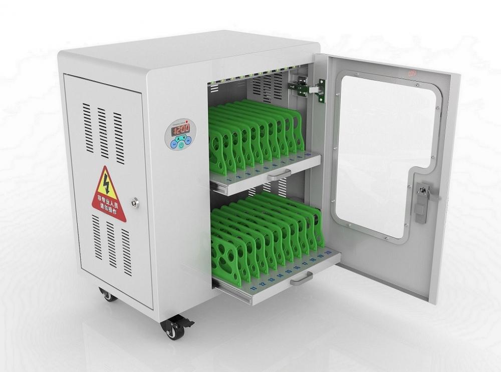 mobile device charging cabinet for school