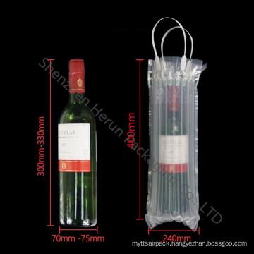 Customized Transparent PE Air Column Bag for Wine Bottle