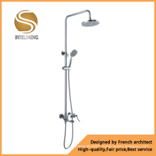 Bathroom Sanitary Ware Chrome Plated Zinc Handle Shower Set (ICD-10003)
