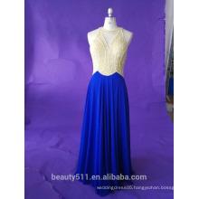 Scoop neckline sleeveless prom dress floor-length Evening dress party dress P111