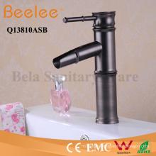Antique Copper Faucet Orb Bamboo Shape Single Handle Bathroom Basin Tap Mixer