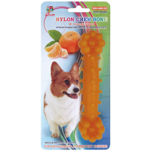 "Percell 6 ""Nylon Dog Chew Bone Orange doft"