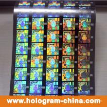 Feuille d'estampillage holographique au laser 3D