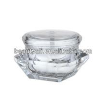 Jarra de cosméticos de diamante transparente atraente de alta moda