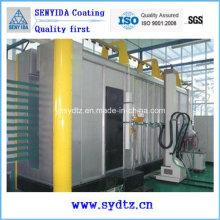 Linha de pintura eletrostática de revestimento em pó máquina de pulverização automática