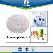 Vente chaude qualité GMP Phényléphrine hcl chlorhydrate de phényléphrine
