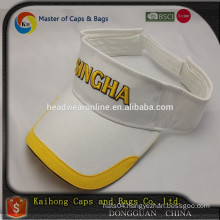 fashion sun visor with 3D embroidery logo