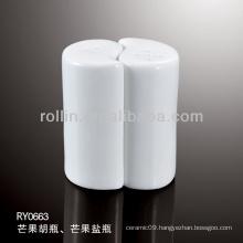 healthy durable white porcelain oven safe salt shaker