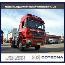 Caminhão do trator do reboque de Shacman 6X4 para o transporte do recipiente
