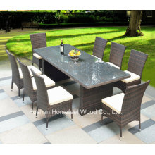 9 Pieces Gathering Outdoor Wicker Dining Sets