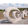 china supplier modern marble mother and daughter garden sculpture