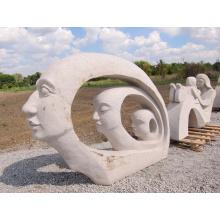 fournisseur de porcelaine moderne en marbre mère et fille jardin sculpture