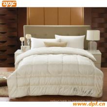 Juego de 3 piezas de edredón de cama reversible de doble cara con tacto suave de algodón egipcio y 2 fundas de almohada estándar, tamaño Queen, azul