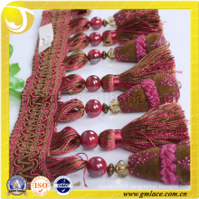 China Supplier Women Dress Fabric Costume Red Sexy Colorful Tassel Trim