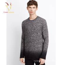Mixed yarn knitting cashmere sweater for men