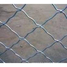 Treillis métallique soudé à mailles soudées Chaud galvanisé panneau de clôture mobile dans le chantier de construction, chantier de construction, sécurité de la piscine (usine)