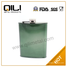 7oz metal hip flask with customized color