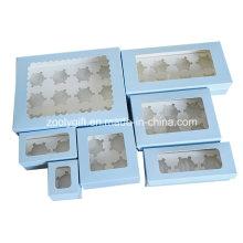 Boîte à soupe à papier à découper / Boîte à gâteau en papier cartonné imprimé avec fenêtre Insérer et Effacer