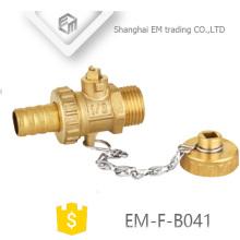 """EM-F-B041 1/2 """"Messing Heizkörperventilblock mit Schloss"""