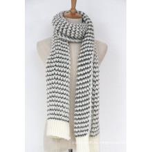 Calentador de cuello unisex para mujer de lujo grueso hilado de invierno mezclado bufanda hecha punto (SK153)