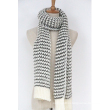 Женские унисекс шею теплым галантерейных толстая Зимняя Пряжа смешанная вязаный шарф (SK153)