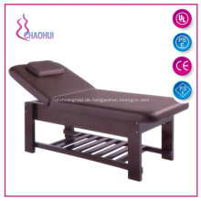 Tragbares Massagebett auf Holzbasis