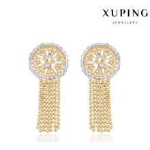 91305 мода ювелирные изделия простой Золотая серьга конструкции для женщин в многоцветный покрытием