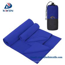 2018 toalha de esporte de zíper de microfibra personalizado com bolso