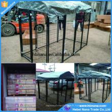 Cages de chien de PET / grand stylo de chien / chaîne lien clôture treillis métallique clôture de chien