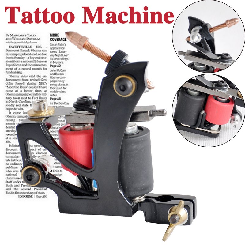 black tattoo machine gun