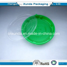 2015 Plato de comida desechable de plástico con tapa