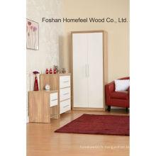 Ensemble de meubles de chambre à coucher en bois de 3 pièces (BD25)