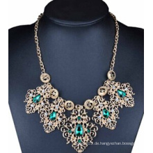 Blue Stone Drop Legierung Halskette (XJW13708)