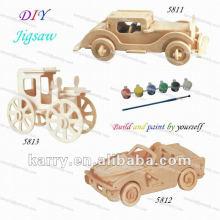 деревянные модели DIY