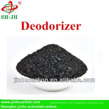 Carbón activado como desodorante de habitación de hotel